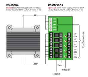 500VA Power Supply PSH500A PSM500A